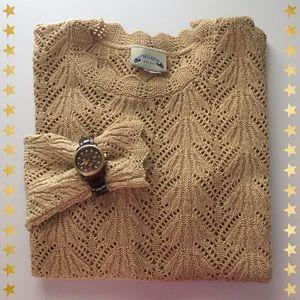 Scalloped Knit Sweater